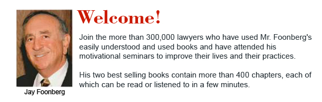 Jay Foonberg   Starting your own law practice Law Firms Book